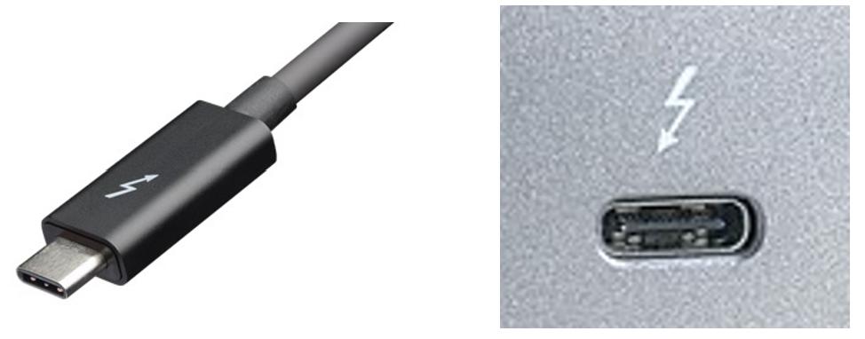 Thunderbolt audio connector