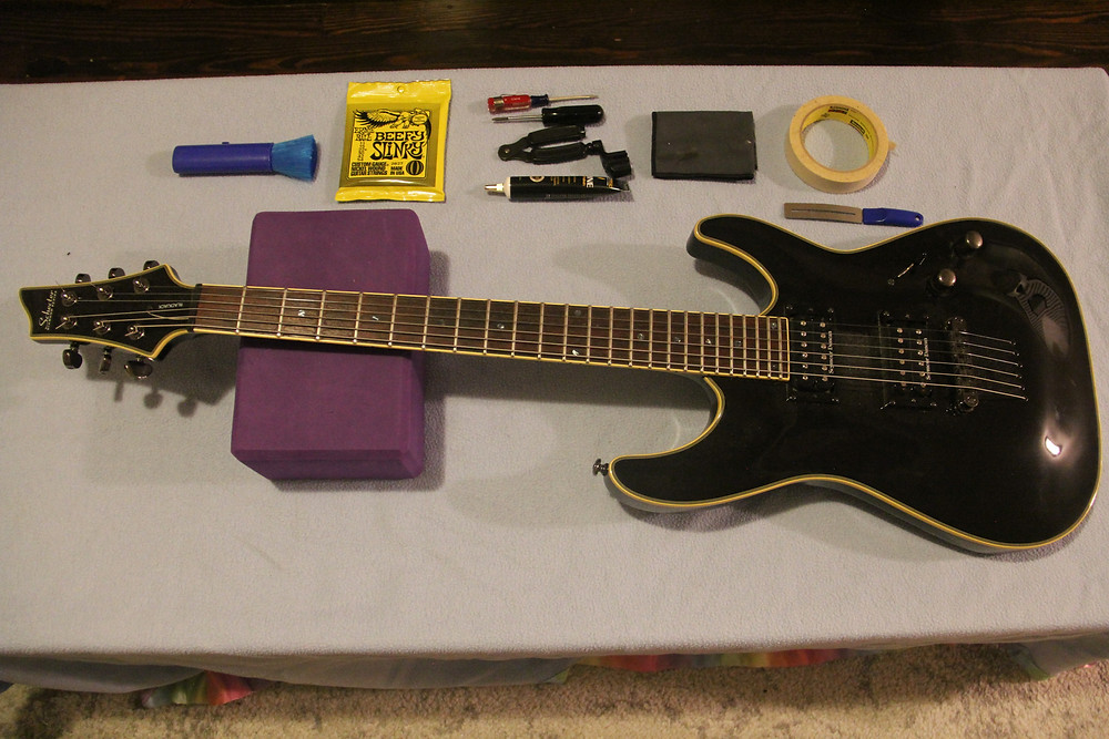 Guitar setup preparation