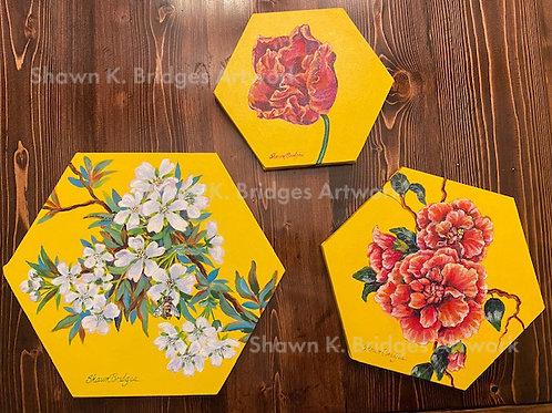 Hexagon Florals