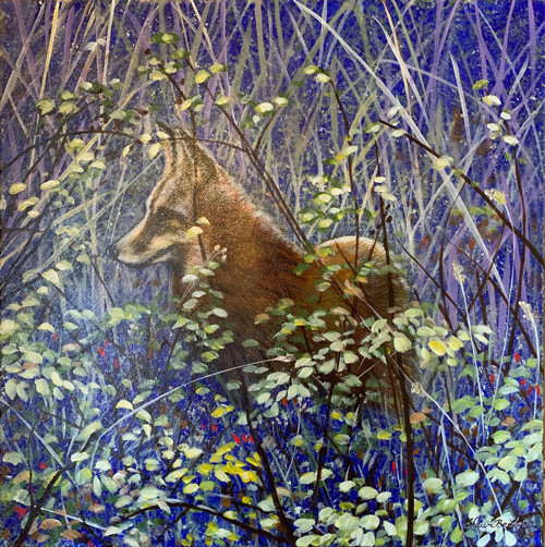 Hiding Fox 24X24 $900.jpg