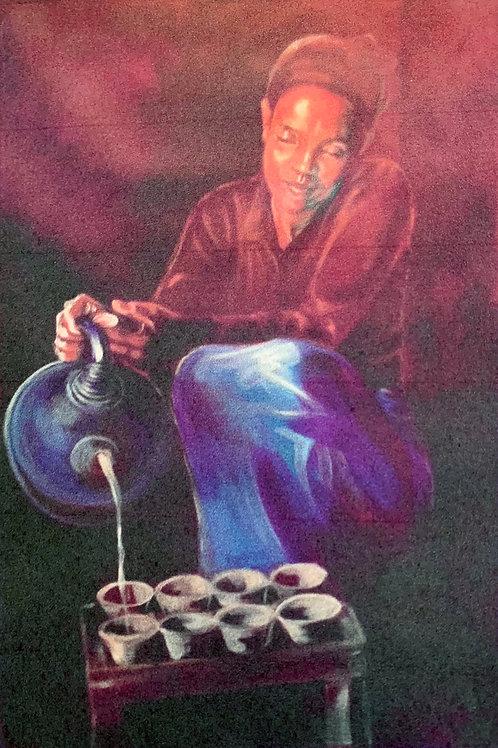 Serving Tea - Ethiopia