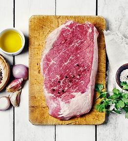 Bife de carne crua
