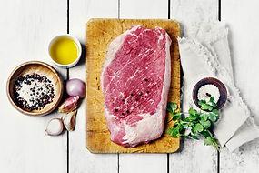 Steak de bœuf cru