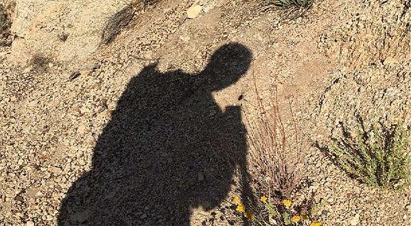shadow of a hiker  - Pacific Crest Trail  - copyright friendlyhiker.com