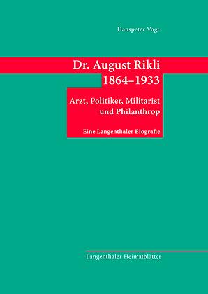 Dr. August Rikli 1864–1933