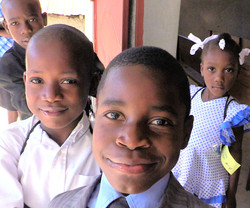 Kids at Ennery church
