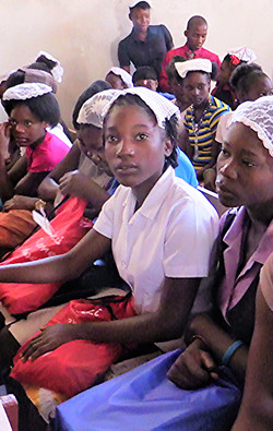 Young women at Ennery