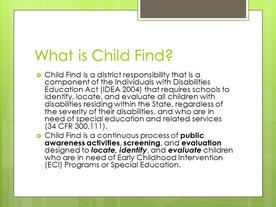 Child's Find Act