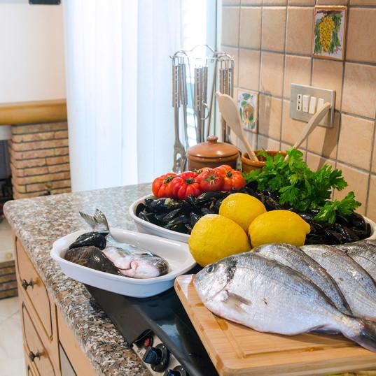 cucina della casa delle zammare