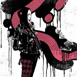 pink black punk foodie
