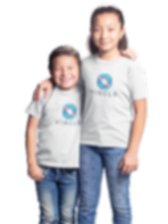 asian-kids-wearing-tshirts-blank backgro