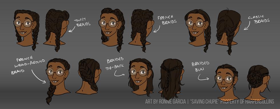 Saving Chupie - Lorena hair variants