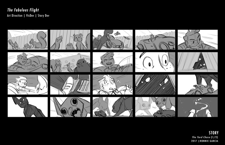 Fabulous Flight - storyboard 1