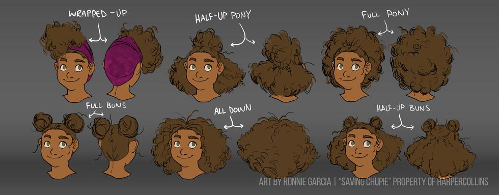 Saving Chupie - Violeta hair variants