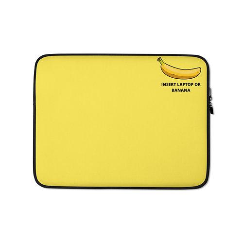 Laptop Sleeve- yellow-banana
