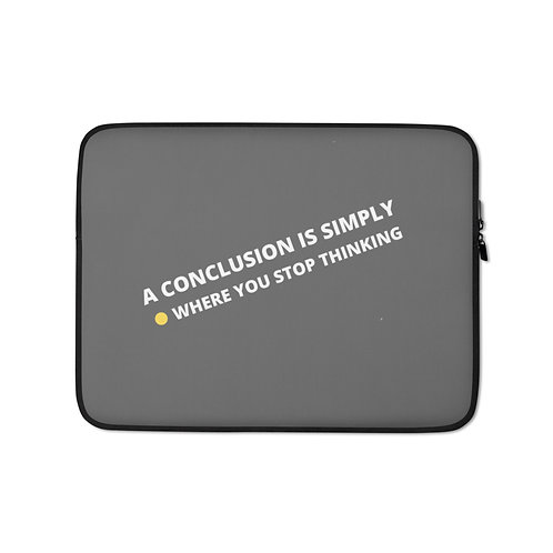 Laptop Sleeve- conclusion-grey