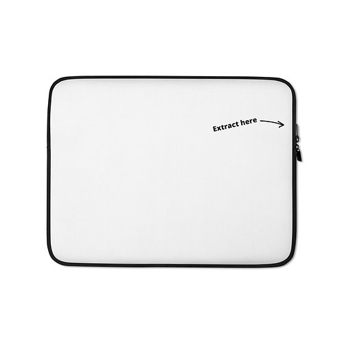 Laptop Sleeve - extract-white
