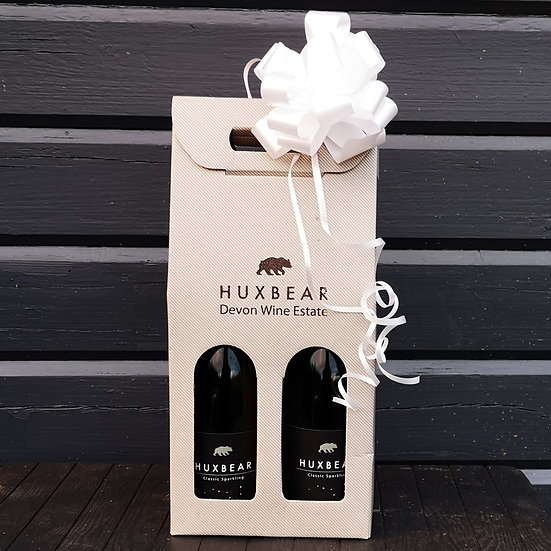 Gift Boxed 2 x Huxbear Classic Sparkling 2017