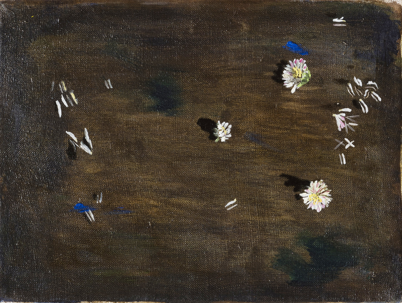 Vera Portatadino, Ticking Away, 2017, olio su tela, 18 x 24 cm