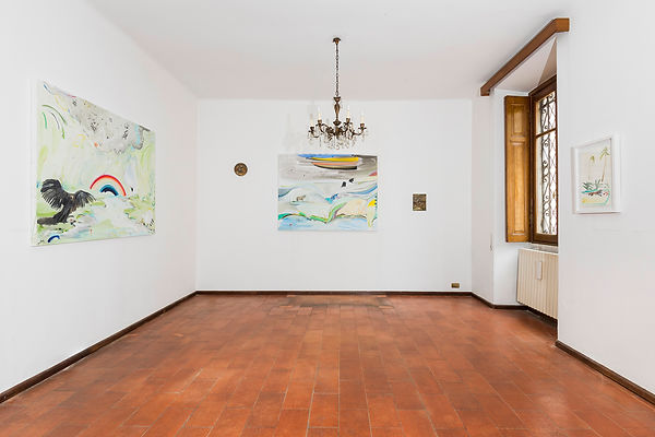 Vera Portatadino, Exhibition view of the paintings by emerging artist Vera Portatadino made in 2017, contemporary art, animals, nature, ecology, beauty and death