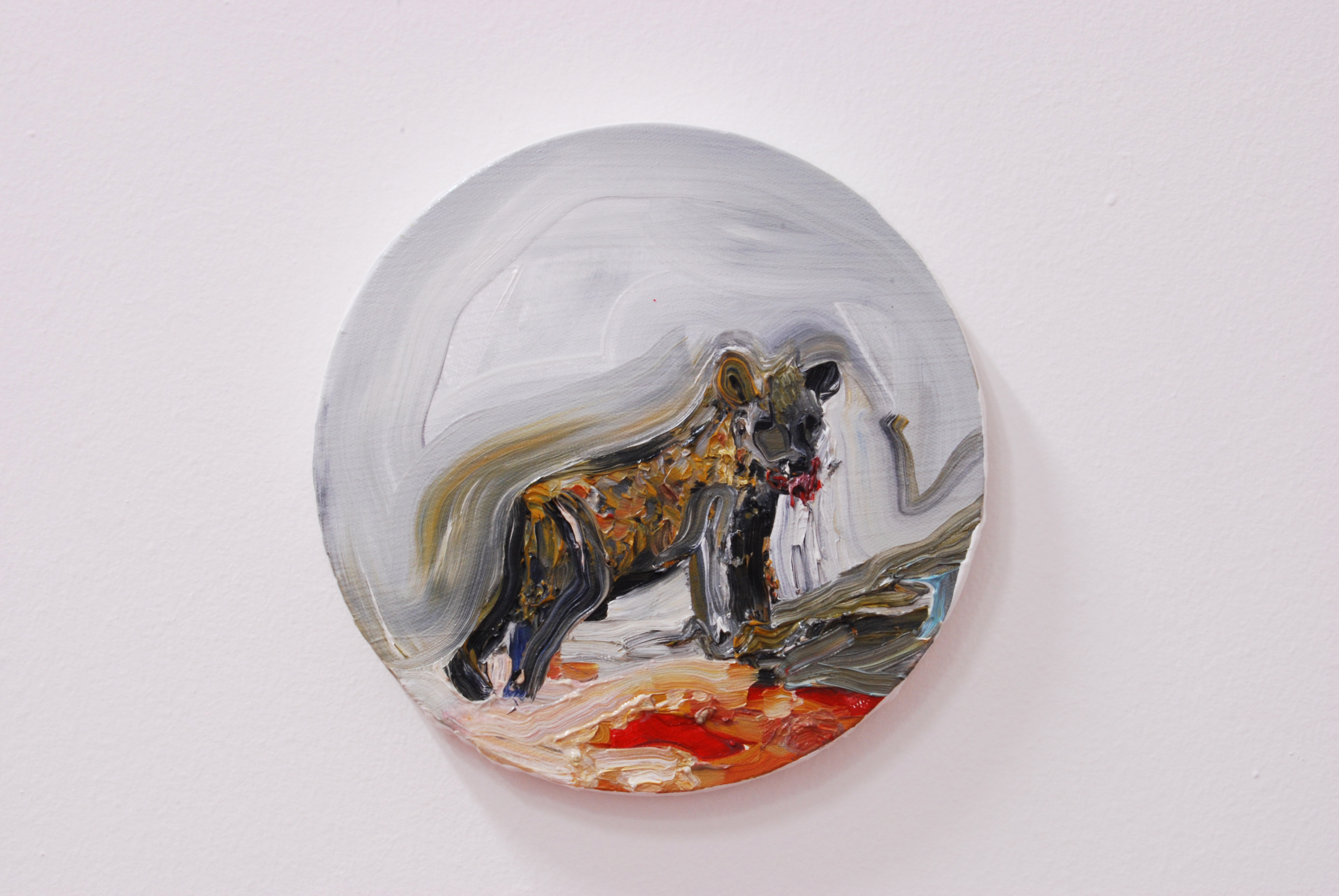 Vera Portatadino, 2014, oil on canvas, 20cm diameter