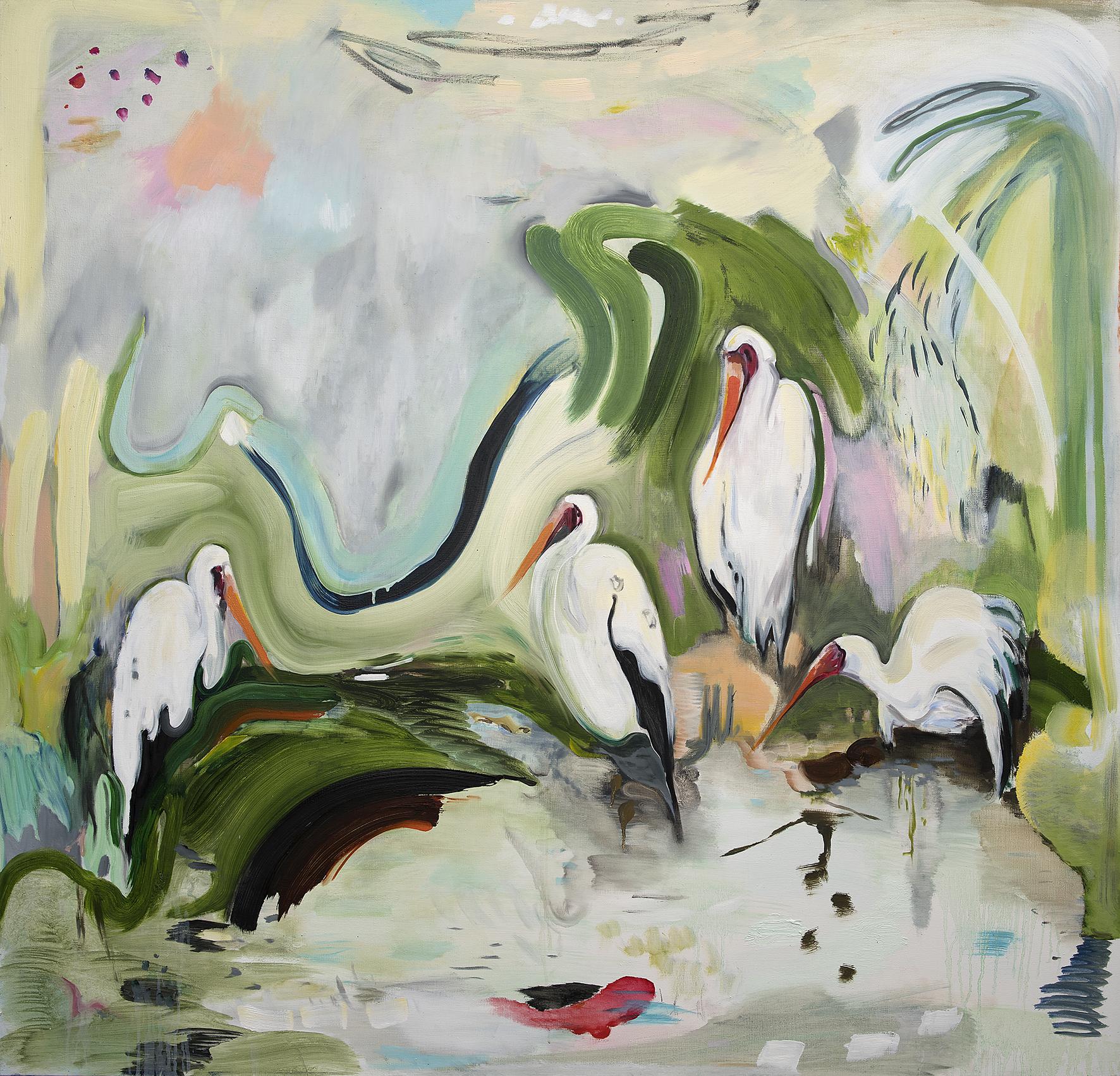 Vera Portatadino, The Death of the Fish, 2015, oil on canvas, 150 x 150 cm
