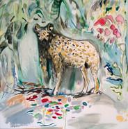 Vera Portatadino,Standing Hyena