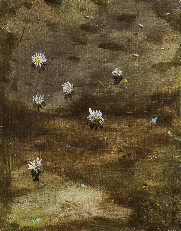 Vera Portatadino, Time, 2017, olio su tavola, 30 x 24 cm