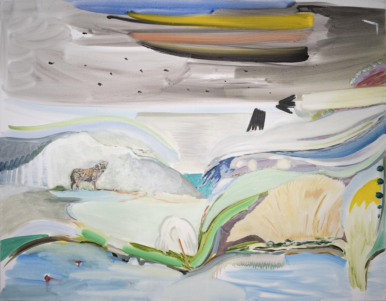 Vera Portatadino, So Long, Now, 2016, olio su tela, 120 x 155 cm