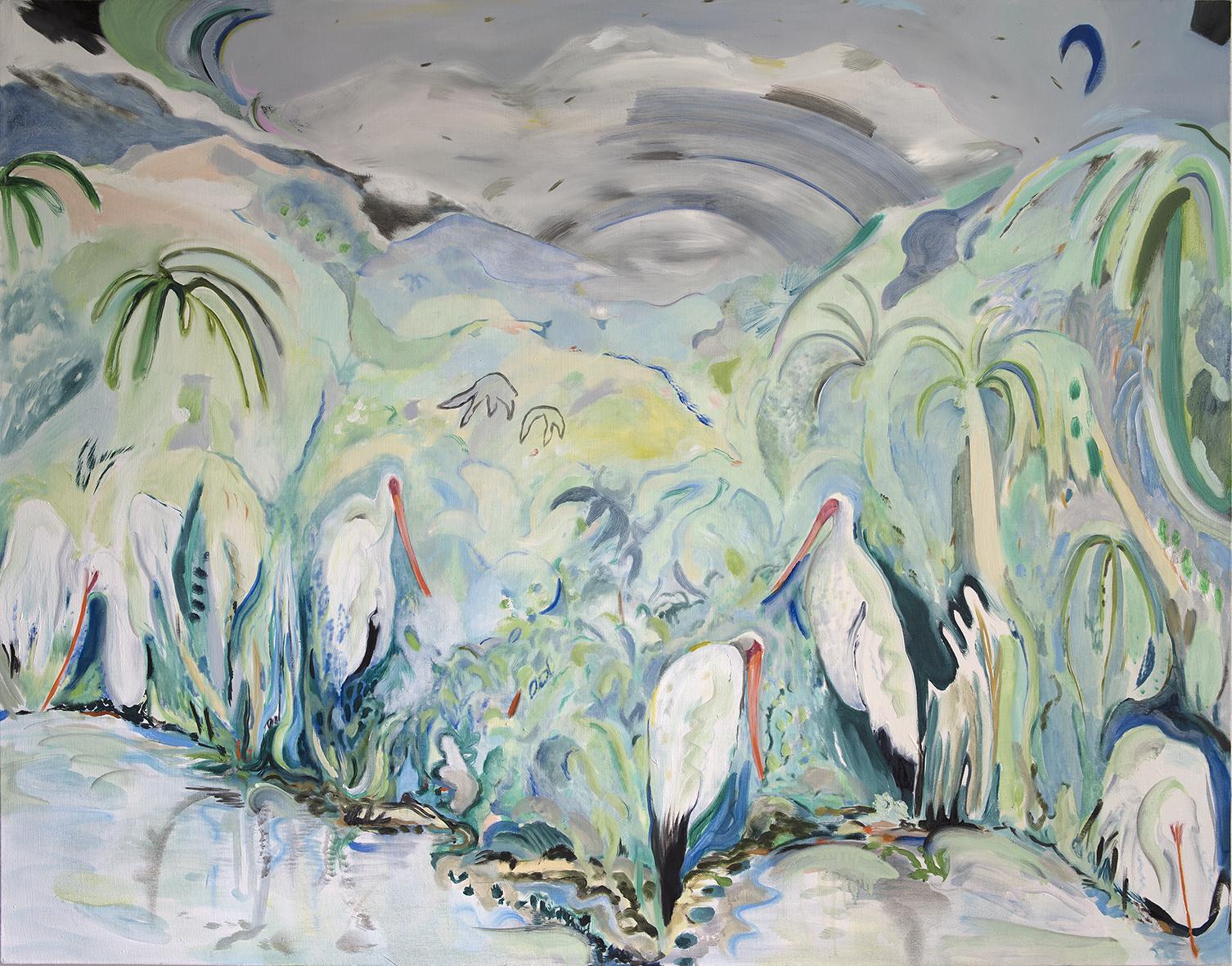 Vera Portatadino, A Bunch of Lonesome Heroes, 2016, olio su tela, 120 x 153 cm