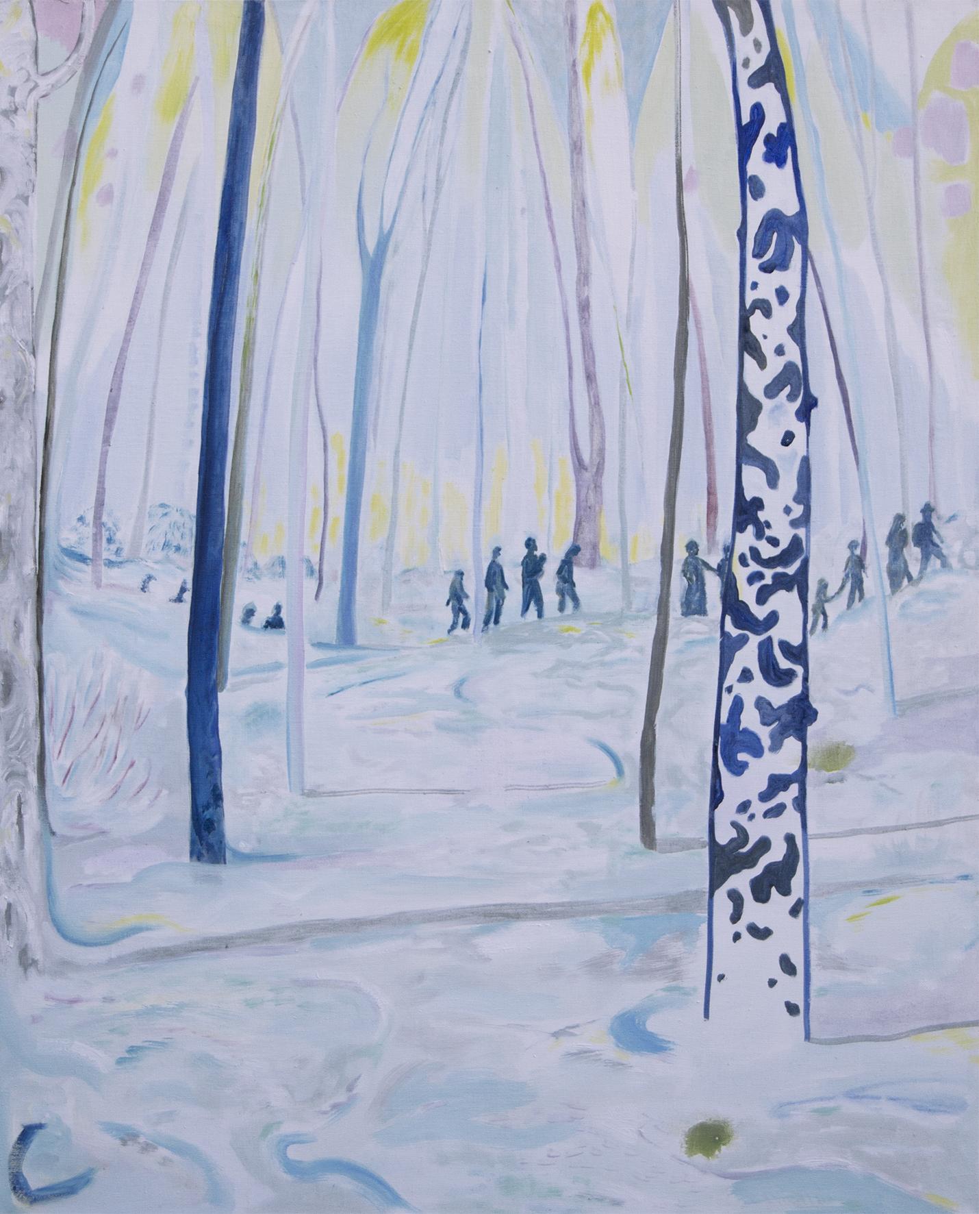 Vera Portatadino, The Forest Crossing, 2017, oil on linen,120 x 100 cm