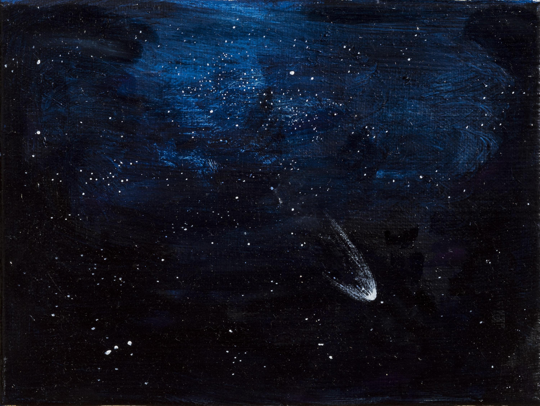 Vera Portatadino, Transition, 2017, olio su tela, 18 x 24 cm