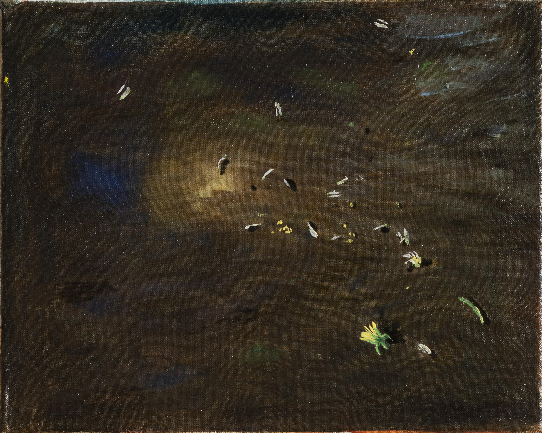 Vera Portatadino, Big Bang, 2017, olio su tela, 24 x 30 cm