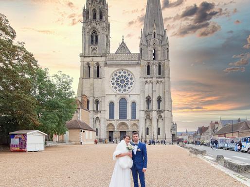 Mariage d'OXANA & JEREMY à la Cathédrale Notre-Dame de CHARTRES