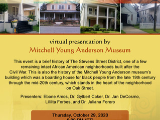 Virtual event on Zoom Thursday October 29, 2020 at 5;00pm
