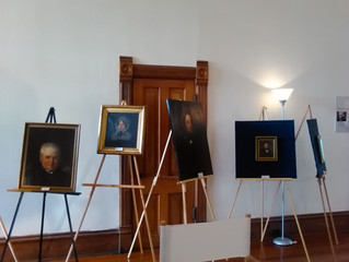 Went to view the Ron Yrabedra collection of 19th Century portraits at Lapham-Patterson House