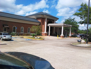 Thomasville Library providing rocking chairs for visitors waiting for the local bus. Isn't this