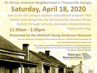 Hold the date: Saturday April 18 2020. We are holding a FREE outdoor event - From Being Property to
