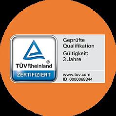 Novamediatrain_TÜV_Logo_Kreis_orange_Fernschule_Küchenfachverkäufer_innen.png