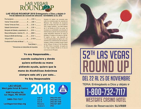 Las Vegas Roundup Spanish Form
