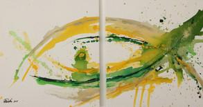 """""""Fisch in grün/gelb"""""""