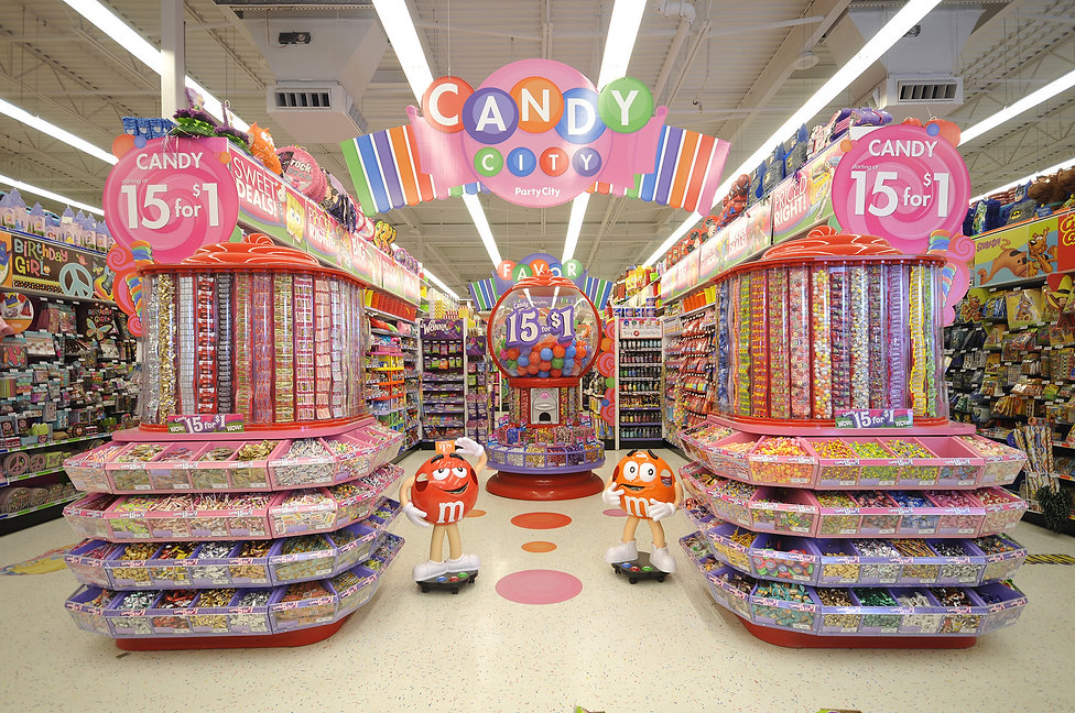 Party City Candy Aisle Signage & Display