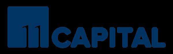 11 Capital Primary Grayscale Logo_RGB Di