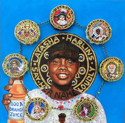 Latasha Harlins en El Cielo con Las 7 Potencias Africanas, 2017