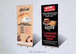 Idées Folles - Kakémono McDonald's
