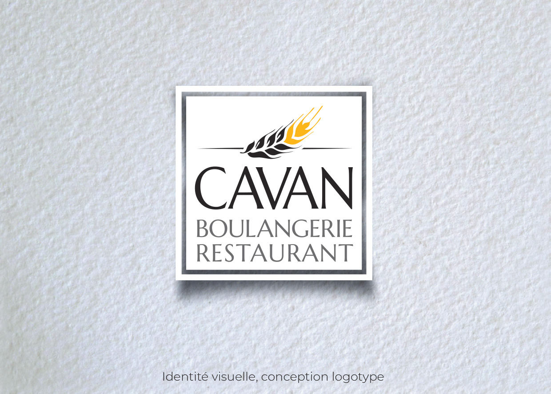 Idées Folles - Logotype boulangerie Cavan
