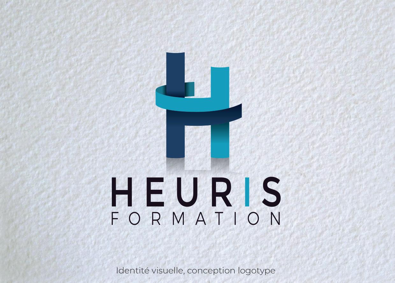 Idées Folles - Logotype Heuris Formation