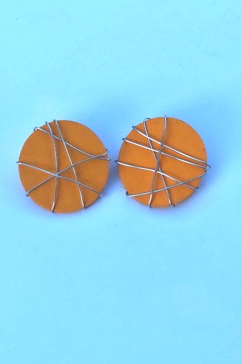 Tangerine studs