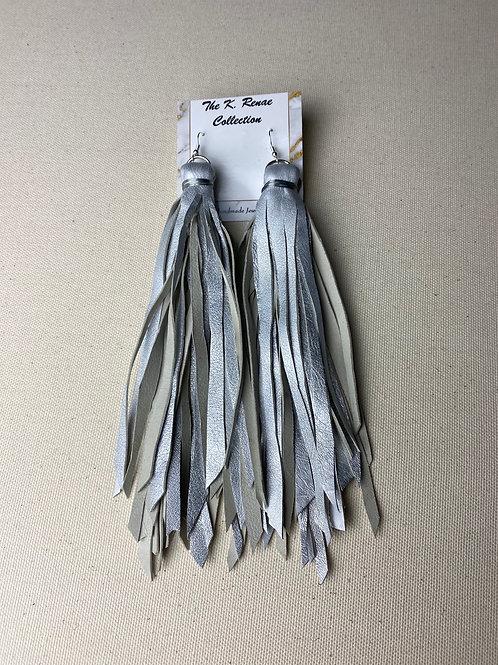 Silver Metallic Tassels