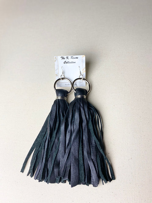 Jazzy Leather Tassels (long)